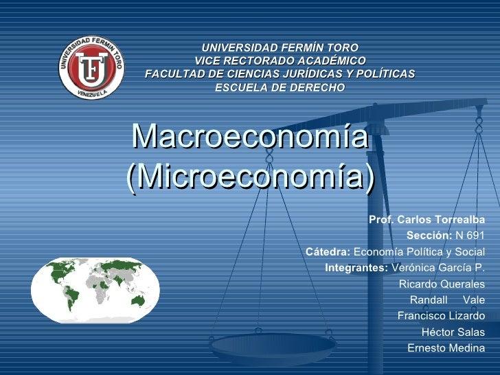 UNIVERSIDAD FERMÍN TORO        VICE RECTORADO ACADÉMICO FACULTAD DE CIENCIAS JURÍDICAS Y POLÍTICAS           ESCUELA DE DE...
