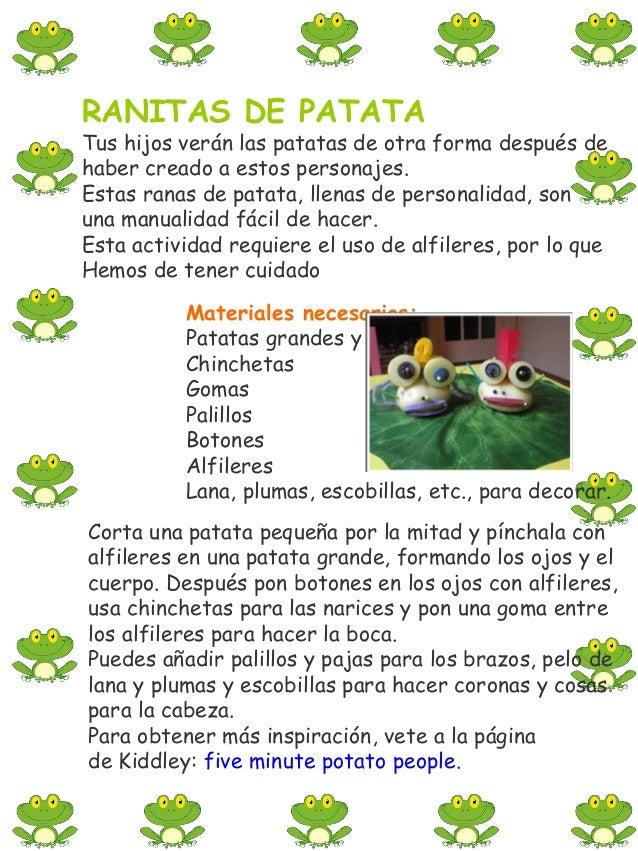 GORRO EN FORMA DE RANAMateriales necesariosCaja de cereales: abierta sobre la mesaTijerasGrapadoraCartulina: verde y blanc...