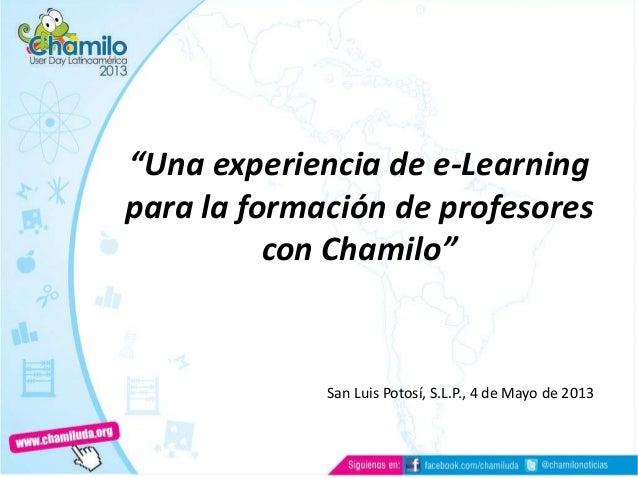Experiencia de Chamilo en San Luis Potosí SLP