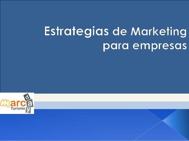 Estrategia de Maketing para empresas