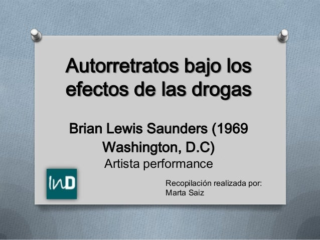 Autorretrato bajo los efectos de las drogas