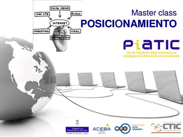 Presentación Master Class PIATIC de Posicionamiento y reptuación online