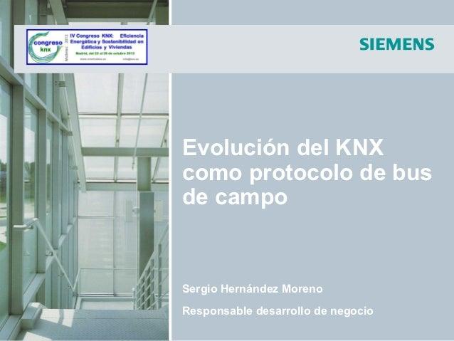 Evolución del KNX como protocolo de bus de campo