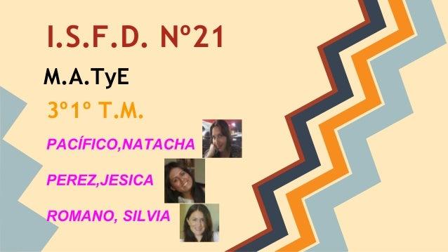 I.S.F.D. Nº21 M.A.TyE 3º1º T.M.