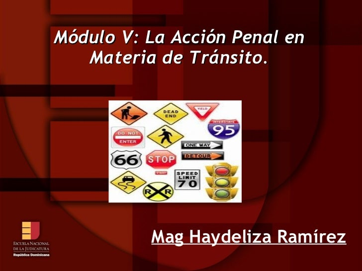 Módulo V: La Acción Penal en   Materia de Tránsito.          Mag Haydeliza Ramírez