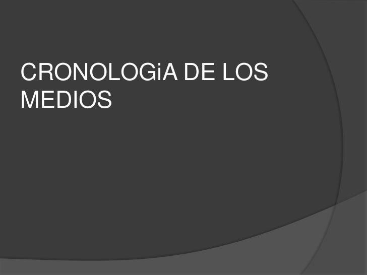 CRONOLOGiA DE LOSMEDIOS