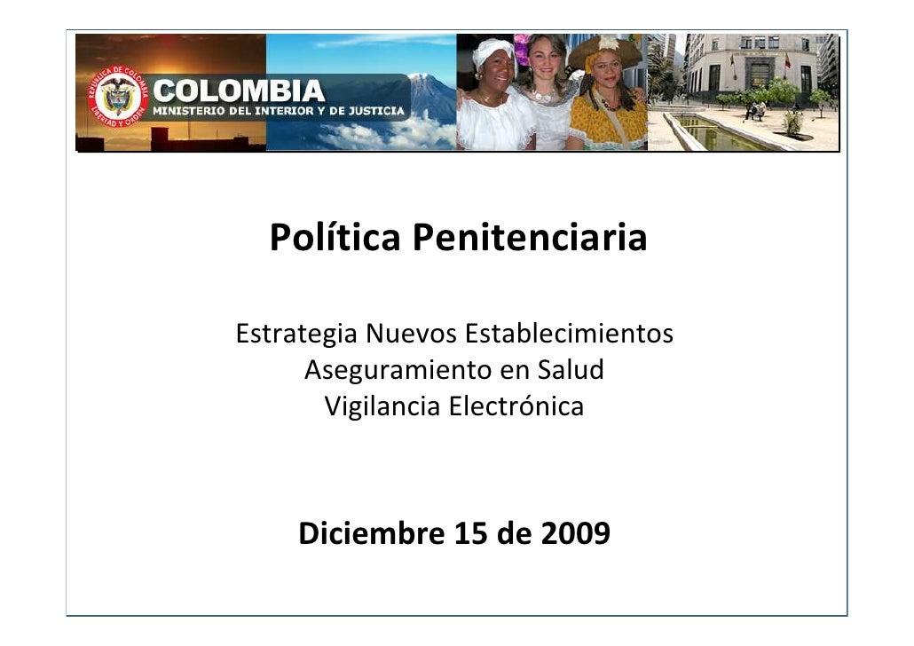 Foro Cárceles: Presentación Miguel Ceballos - Viceministro de Justicia