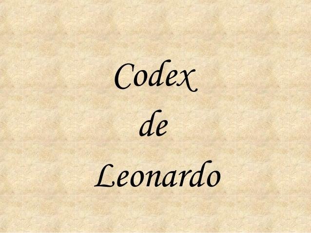 Codex   deLeonardo