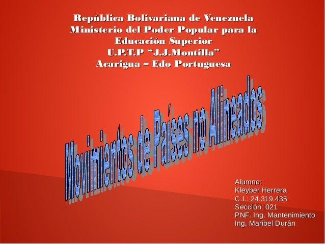 República Bolivariana de VenezuelaRepública Bolivariana de Venezuela Ministerio del Poder Popular para laMinisterio del Po...
