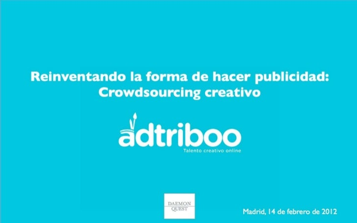 Presentación de adtriboo en Marketing Strategy Forum