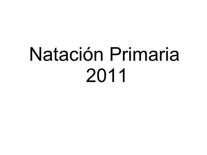 Natación Primaria  2011