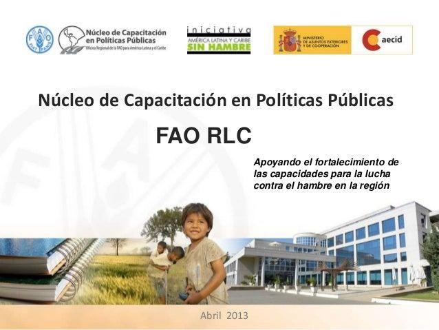 Núcleo de Capacitación en Políticas Públicas              FAO RLC                                 Apoyando el fortalecimie...