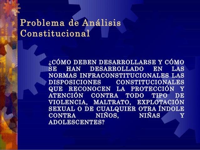 Problema de Análisis Constitucional ¿CÓMO DEBEN DESARROLLARSE Y CÓMO SE HAN DESARROLLADO EN LAS NORMAS INFRACONSTITUCIONAL...