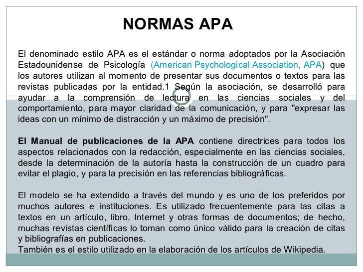Presentaci n normas apa diplomado for Caracteristicas de la oficina wikipedia