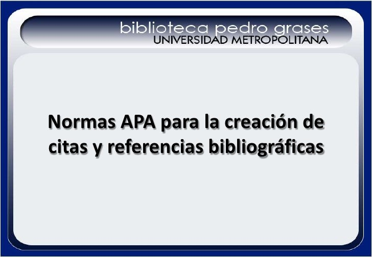 Presentación normas APA biblioteca