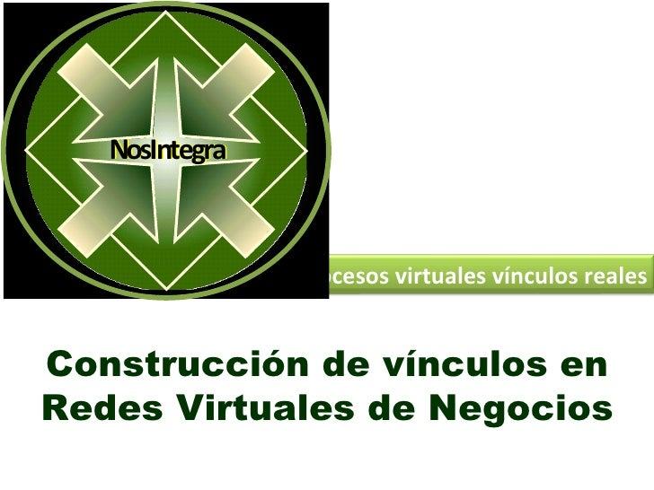 NosIntegra                  NosIntegra                             Procesos virtuales vínculos reales   Construcción de ví...