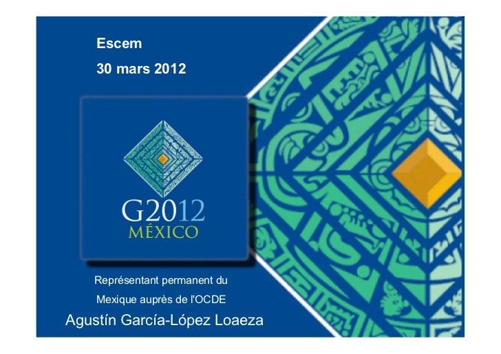 Presentación sobre la OCDE en la ESCEM - Tours