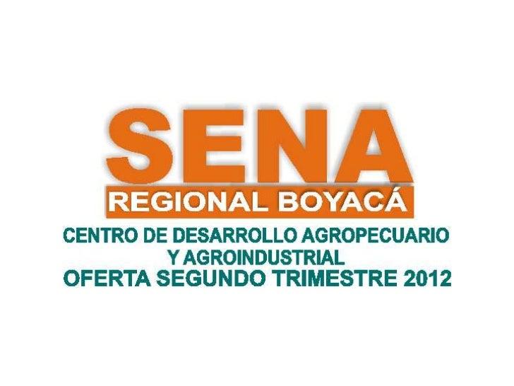 OFERTA SEGUNDO TRIMESTRE 2012