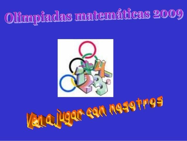 PresentacióN Olimpiadas