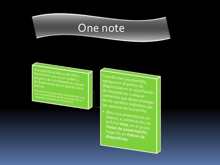 One note<br />