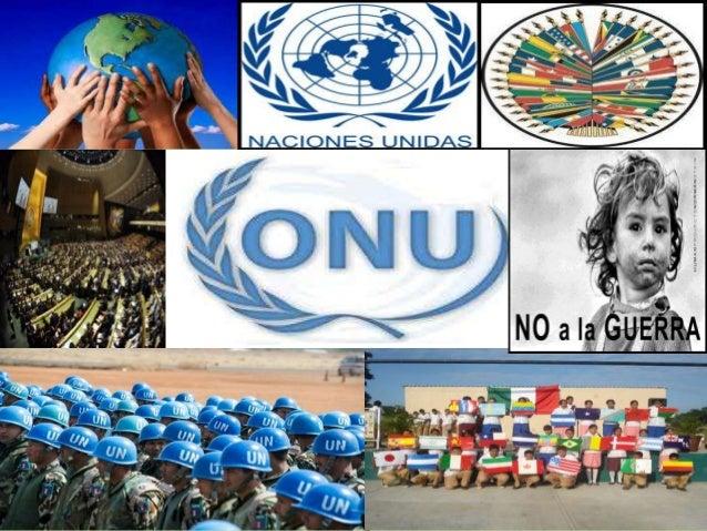 la organizacion de las naciones unidas onu: