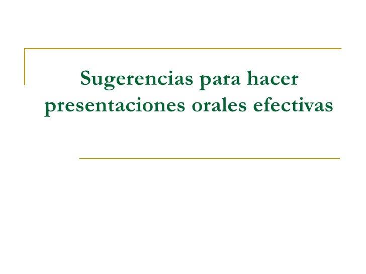 Presentación  Oral  Efectiva