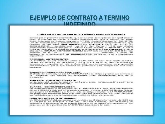 Contratos laborales for Contrato indefinido ejemplo