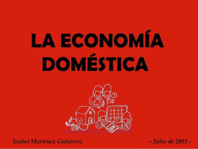 Presentaci n para la impartici n de clase - Economia domestica consejos ...