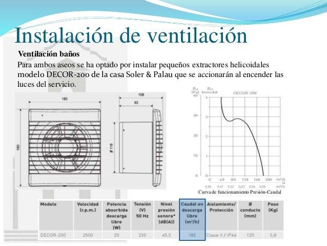 Dise o de instalaciones para un taller de mec nica r pida - Ventilacion forzada banos ...