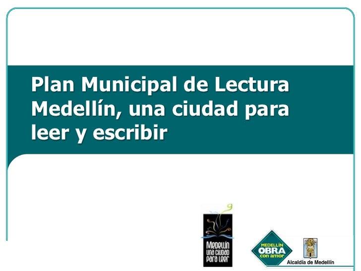 Presentación plan municipal de lectura