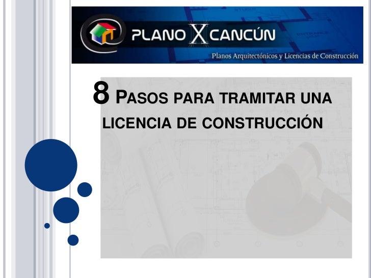 8 Pasos para tramitar una licencia de construcción<br />