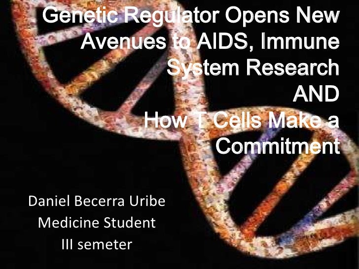 Genetic Regulator Opens New Avenues to AIDS, Immune System ResearchANDHow T Cells Make a Commitment<br />Daniel Becerra Ur...