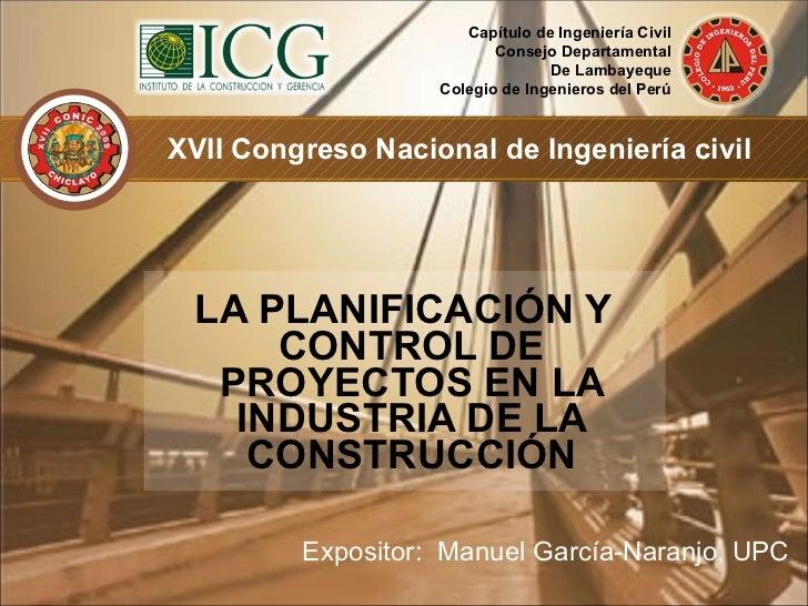 Planificaci N Y Control De Proyectos De Construcci N
