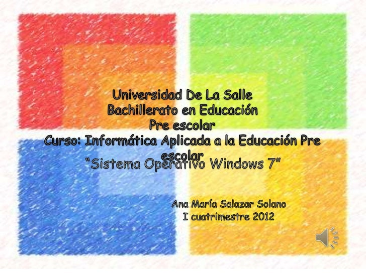 Presentación power point sistema operativo windows 7