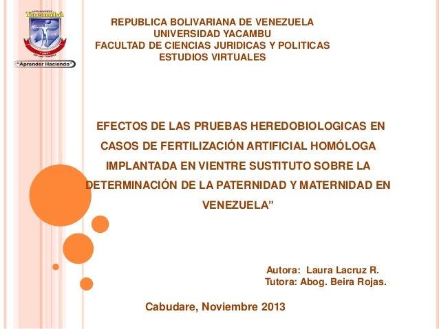 """REPUBLICA BOLIVARIANA DE VENEZUELA UNIVERSIDAD YACAMBU FACULTAD DE CIENCIAS JURIDICAS Y POLITICAS ESTUDIOS VIRTUALES  """"EFE..."""