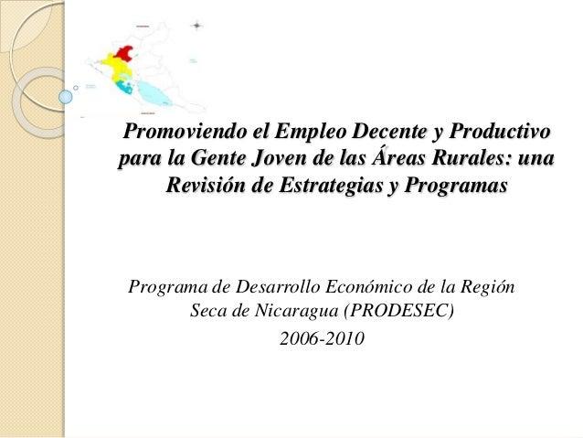 Promoviendo el Empleo Decente y Productivo para la Gente Joven de las Áreas Rurales: una Revisión de Estrategias y Program...