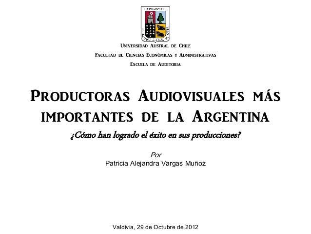 Universidad Austral de Chile          Facultad de Ciencias Económicas y Administrativas                        Escuela de ...