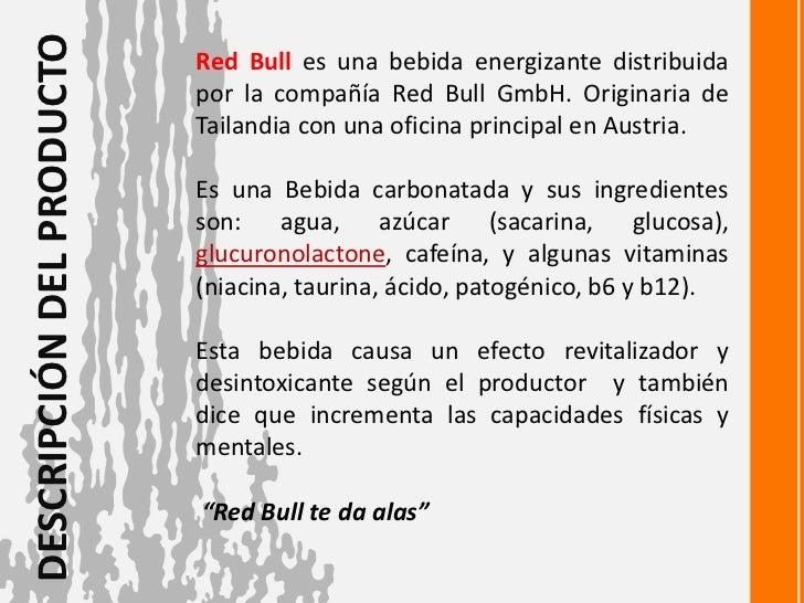 Presentaci n producto red bull descarga el ppt d - Descripcion del producto ...