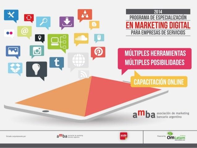 Programa de Especialización en Marketing Digital Orientado a empresas de servicios con Certificación Habilitante para plan...