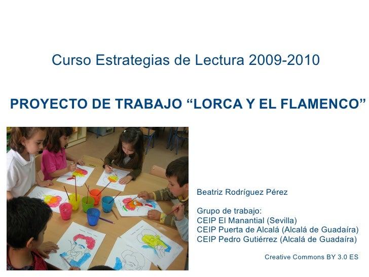 """Proyecto """"Lorca y el Flamenco"""""""