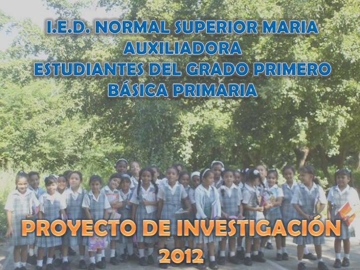 Proyecto de Investigación 1° 2012