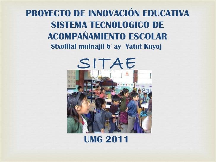 Presentación proyecto de innovación educativa