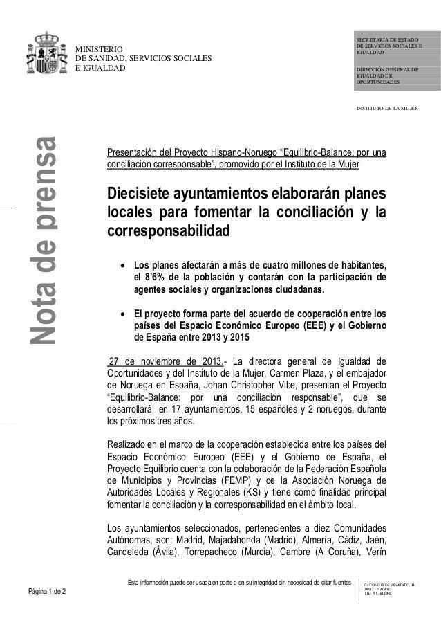 Presentación proyecto 'EQUILIBRIO : conciliación responsable'