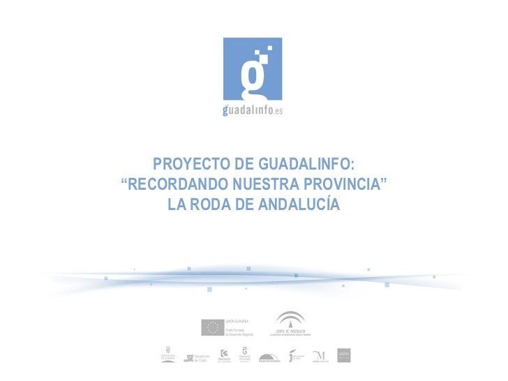 """Presentación Proyecto """"Recordando nuestra provincia"""""""