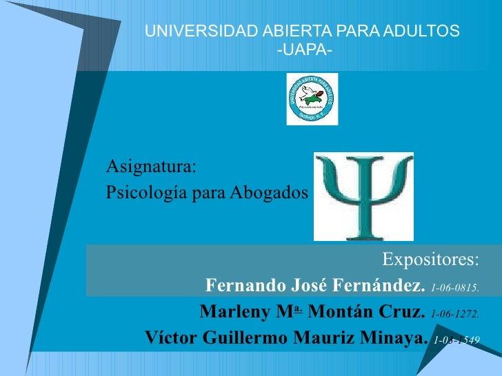 Presentación psicología para abogados delitos societarios