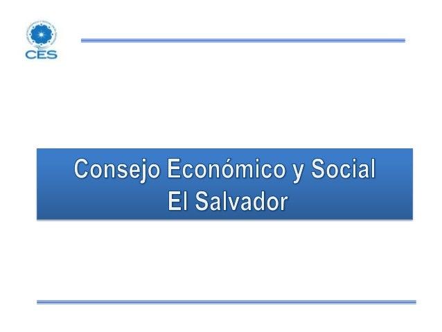 CES – Consejo Económico y Social de El Salvador