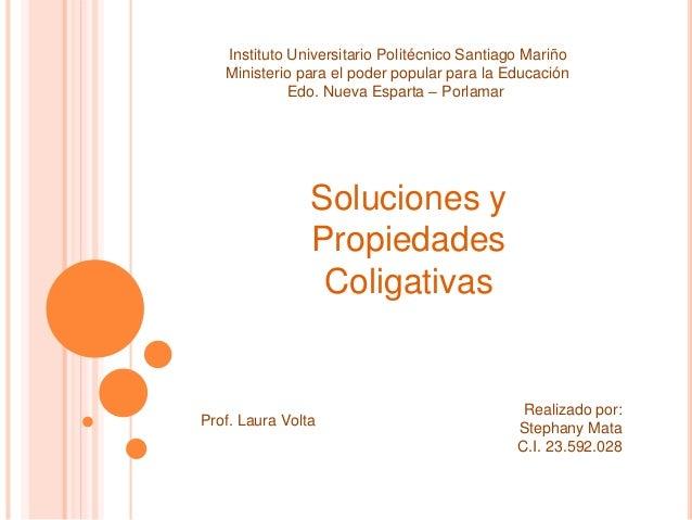 Instituto Universitario Politécnico Santiago Mariño Ministerio para el poder popular para la Educación Edo. Nueva Esparta ...