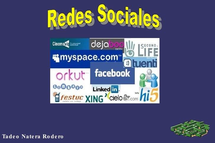 Tadeo Natera Rodero Redes Sociales