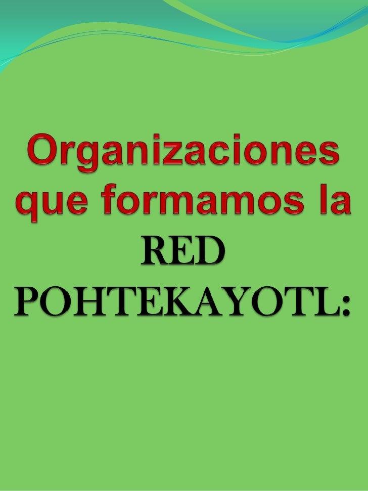 Organizaciones que formamos la RED POHTEKAYOTL:<br />