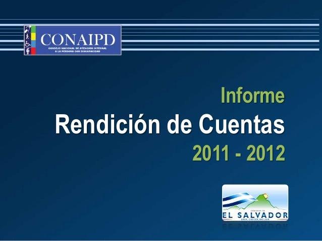 InformeRendición de Cuentas           2011 - 2012